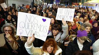 Sombre journée internationale de lutte contre les violences faites aux femmes en Espagne
