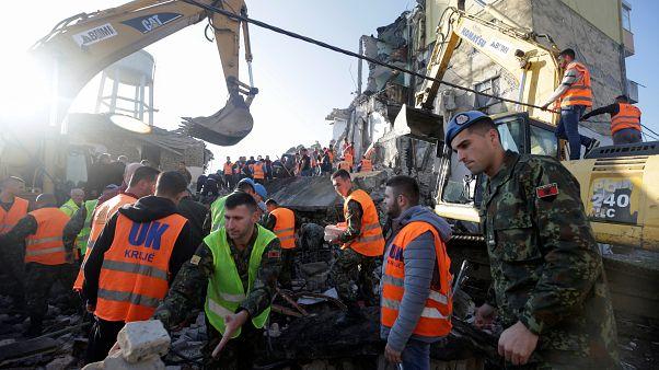 Χαλάσματα μετά τον σεισμό 6,4 Ρίχτερ στην Αλβανία