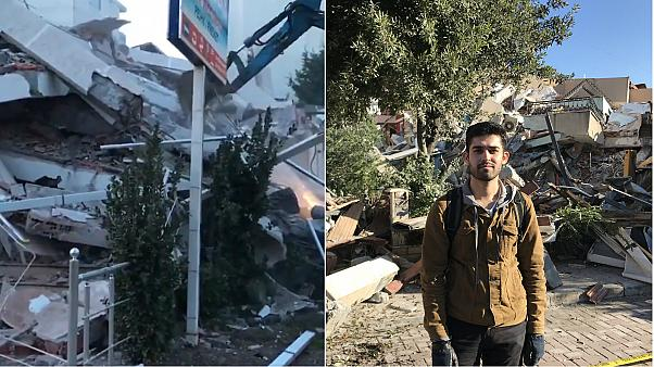 Baran was visiting Durres as a tourist when the earthquakes struck