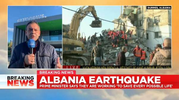 'A picture I will never forget': Euronews Albania chief on Earthquake chaos