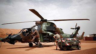 Archive - Un hélicoptère Tigre de la force Barkhane, le 1er aout 2019 à Gao au Mali
