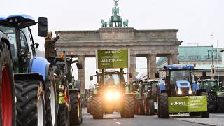 Bauernprotest mit 5.000 Traktoren in Berlin