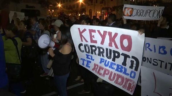 Marcha contra la excarcelación de Keiko Fujimori
