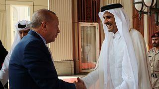 الرئيس التركي يلتقي أمير قطر في الدوحة- أرشيف رويترز