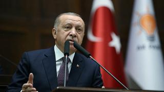 الرئيس التركي رجب طيب أردوغان خلال اجتماع في البرلمان في أنقرة تركيا 26 نوفمبر/ تشرين الثاني 2019