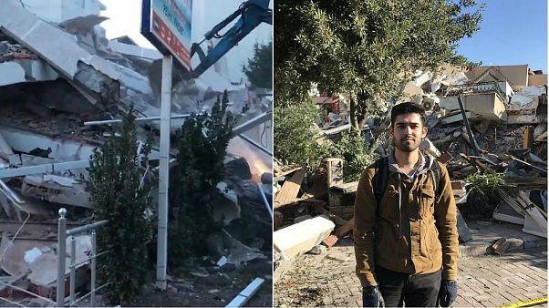 Barış Baran war während des Erdbebends in Durres