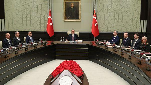 Milli Güvenlik Kurulu (MGK), Türkiye Cumhurbaşkanı Recep Tayyip Erdoğan başkanlığında toplandı