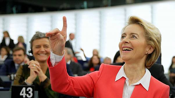 La présidente élue de la Commision Ursula von der Leyen devant les députés européens à Strasbourg, le 27 novembre 2019