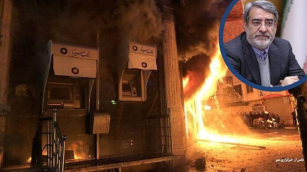 اعتراضات ایران؛ خسارات و جزئیات امنیتی از زبان وزیر کشور