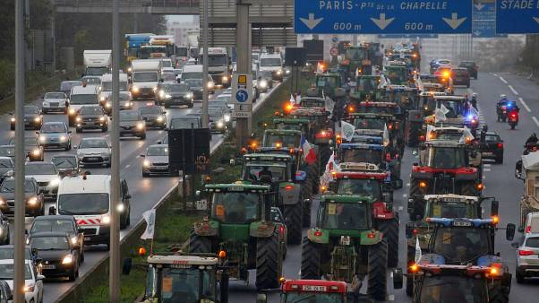 The rolling roadblock has so far blocked the A1 Paris-Lille motorway