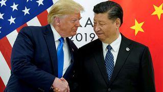 الرئيس الأمريكي دونالد ترامب يلتقي الرئيس الصيني شي جين بينغ في قمة قادة مجموعة العشرين في أوساكا باليابان
