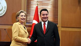 Eski Dışişleri Bakanı Ali Babacan ve Amerikalı mevkidaşı Hillary Clinton, 7 Mart 2009