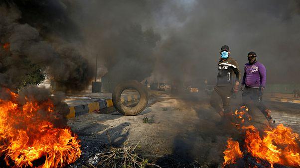 صورة من مظاهرات النجف
