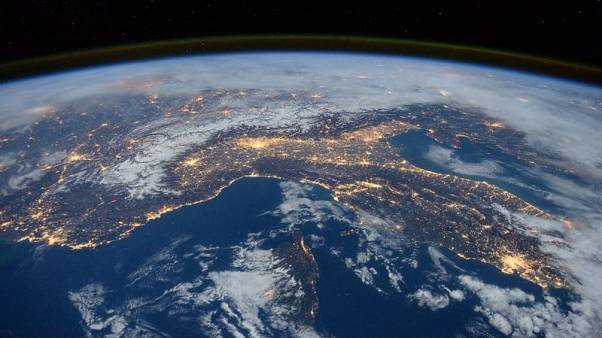 A view over Italy from the ISS