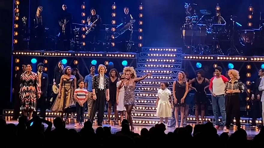 Musical's cast sings happy birthday to Tina Turner