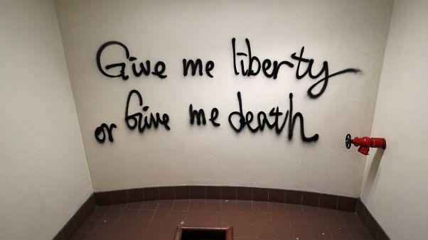 """""""Donnez-moi la liberté ou la mort"""", le slogan qui survit à la PolyU de Hong Kong"""