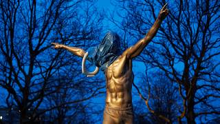 Zlatan Ibrahimovic's statue was adorned with a toilet seat by an angry Malmo fan