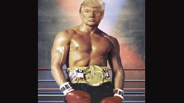 ABD Başkanı Trump kendisini montajlayarak Rocky Balboa oldu