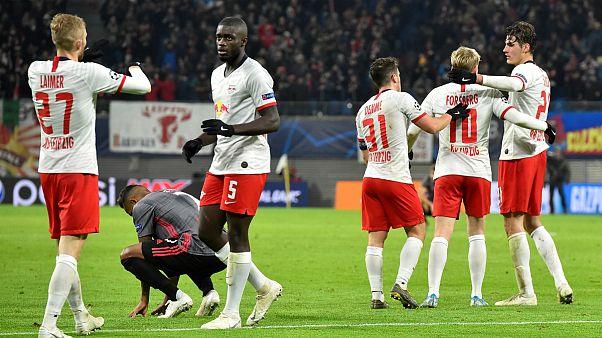 RB Leipzig celebra apuramento após conseguir empate nos descontos