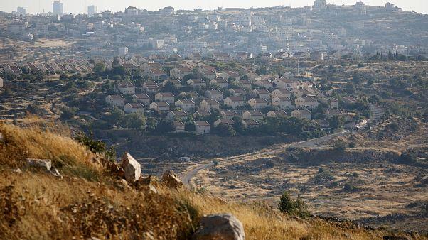 Batı Şeria'da bir Yahudi yerleşim birimi
