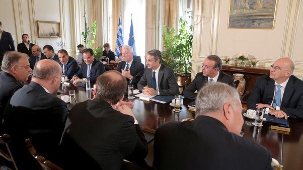 O πρωθυπουργός Κ. Μητσοτάκης μιλά στο υπουργικό Συμβούλιο (ΑΡΧΕΙΟΥ)