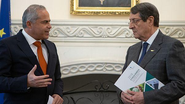 Ο Πρόεδρος της Δημοκρατίας Νίκος Αναστασιάδης παραλαμβάνει την Ετήσια Έκθεση της Ρυθμιστικής Αρχής Ενέργειας Κύπρου (ΡΑΕΚ) για το 2018