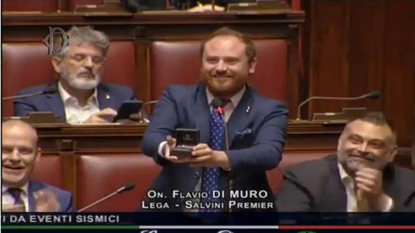 Italian MP proposes marriage during parliament debate on post-earthquake reconstruction