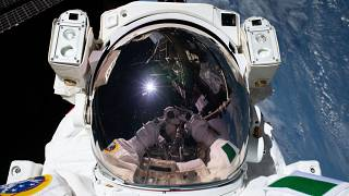 """ESA astronaut Luca Parmitano took a """"space-selfie"""" this month"""