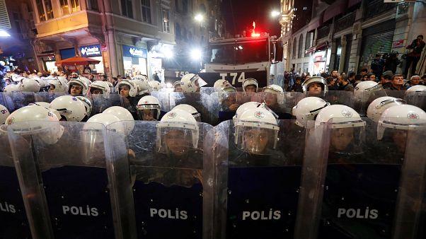 قوات مكافحة الشغب في إسطنبول التركية