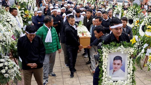 UK truck death victims buried in Vietnam