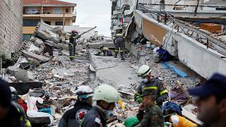 Albania earthquake: Man pulled alive from under rubble of a hotel