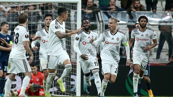 UEFA Avrupa Ligi'nde Beşiktaş ilk puanlarını aldı, Başakşehir ve Trabzonspor sahasında yenildi