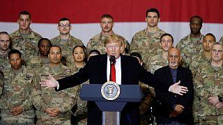 ترامپ در دیدار سرزده از افغانستان: نیروهایمان را کاهش میدهیم