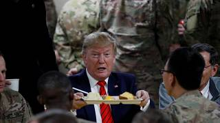 Trump had a Thanksgiving meal with troops at the Bagram air base in Aghanistan