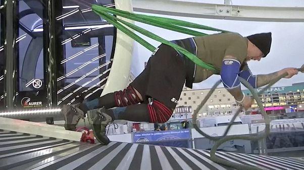Atleta austríaco conseguiu mover a roda gigante de Munique