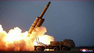 """اختبار جديد """"لقاذفة صواريخ"""" في كوريا الشمالية وواشنطن تدعو إلى تجنب الاستفزاز"""