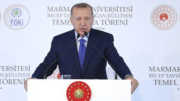 Türkiye Cumhurbaşkanı Recep Tayyip Erdoğan, Marmara Üniversitesi Recep Tayyip Erdoğan Külliyesi Temel Atma Töreni'ne katılarak konuşma yaptı