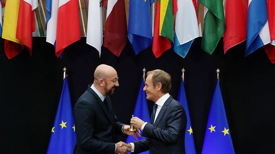 Tusk entrega las riendas del Consejo Europeo a Charles Michel