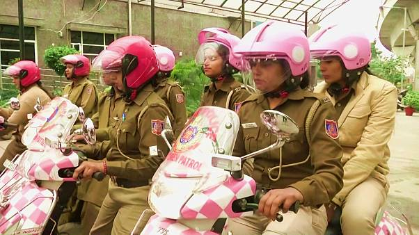 Police go pink to highlight women's safety in crime-hit Delhi