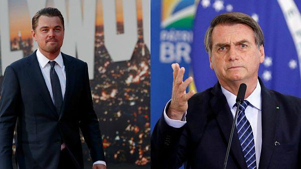 ABD'li oyuncu Leonardo DiCaprio / Brezilya Devlet Başkanı Jair Bolsonaro