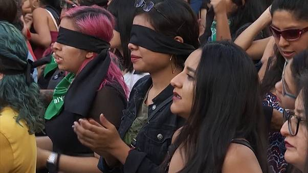 Mexico activists protest violence against women