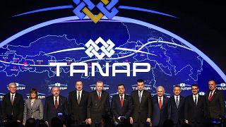 TANAP Avrupa bağlantısı açılış töreni