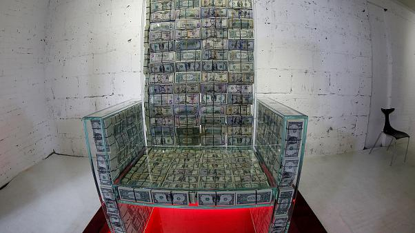 Made of money? Russia artist and billionaire make $1m throne