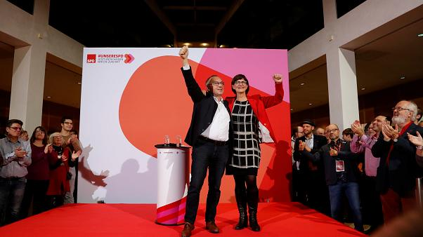 Germany's SPD elects new leftist leadership - raising doubts about future of ruling coalition
