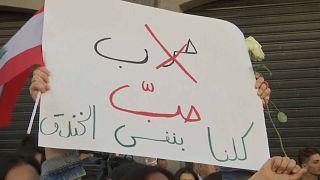 نساء لبنان خرجن مجددا إلى شوارع بيروت رفضا للطائفية والعودة للحرب الأهلية