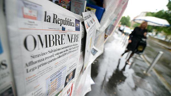 İtalya'da bir gazete kiosku
