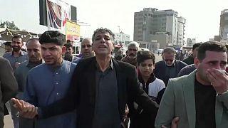 جنازة في النجف لتشييع جثامين ضحايا عراقيين سقطوا خلال الاحتجاجات الأخيرة -2019/11/30-