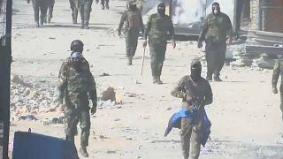 قوات الأمن العراقية أثناء مظاهرة في بغداد 30-11-19