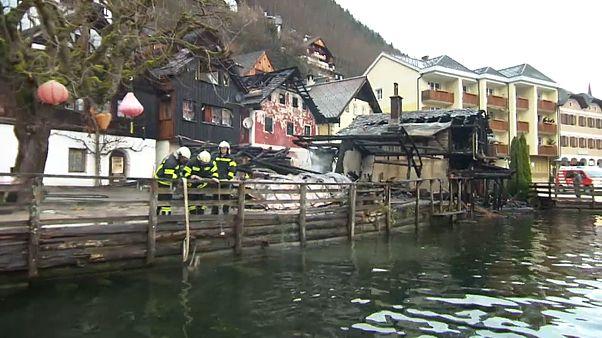 Arde Hallstatt, patrimonio de la Humanidad