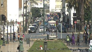 حركة أحد الشوراع في العاصمة المغربية الرباط
